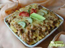 Zapiekanka makaronowa z mięsem i serem