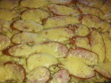 Zapiekanka makaronowa z pieczarkami