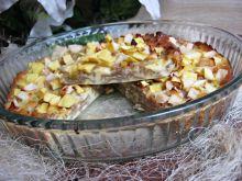 Zapiekanka makaronowa z twarogiem i mango zgruszką