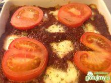 Zapiekanka pomidorowa z mozzarellą
