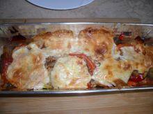 Zapiekanka pomidorowo - cukiniowa