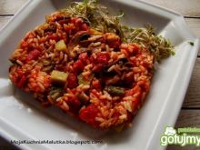 Zapiekanka ryżowa z pieczarkami