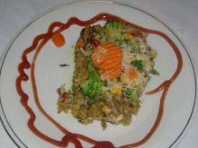 Zapiekanka ryżowa z pieczarkami ...