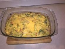 Zapiekanka ryżowa z warzywami i pieczarkami