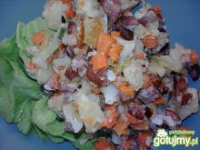 Zapiekanka warzywna z kiełbasą