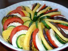 Zapiekanka warzywna z polentą i mozzarellą