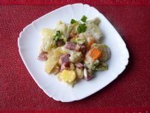 Zapiekanka warzywna z wędliną