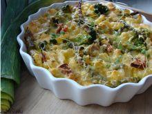 Zapiekanka z brokułami i fasolka szparagową
