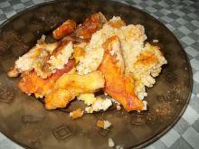 Zapiekanka z kaszą jaglaną,kurczakiem i bakłażanem