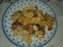 Zapiekanka z kurczakiem i kiełbasą