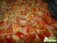 Zapiekanka z makaronem i pomidorem