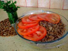 Zapiekanka z mięsa mielonego i ryżu