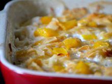 Zapiekanka z ryżem, brzoskwinią i jabłkami