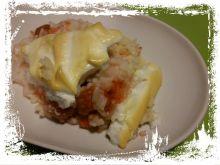 Zapiekanka z ryżu i mrożonych truskawek