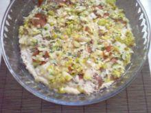 Zapiekanka  z salami i pieczarkami