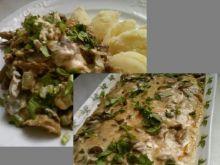 Zapiekanka z sosem sojowo - serowym