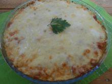Zapiekanka z tortellini, mięsem i cukinią