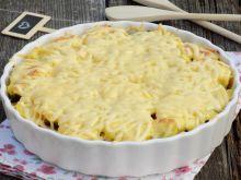 Zapiekanka z ziemniaków, cebuli i pieczarek