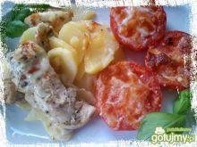 Zapiekanka z ziemniaków i kurczaka