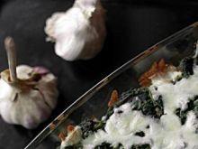 Zapiekanka ze szpinakiem i mozzarellą