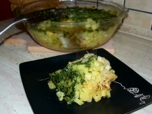Zapiekanka ziemniaczana z dynią i kurczakiem
