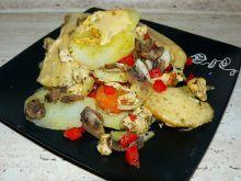 Zapiekanka ziemniaczana z kurczakiem, pieczarkami