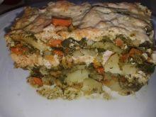 Zapiekanka ziemniaczana z łososiem