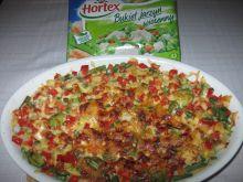 Zapiekanka ziemniaczano-makaronowa z warzywami