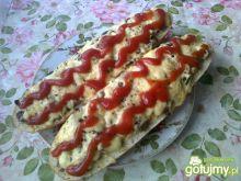 Zapiekanki z dużą ilością sera