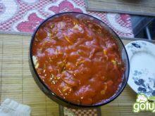Zapiekankna z gyrosem i pomidorami