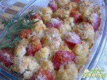 Zapiekany kalafior z pomidorem