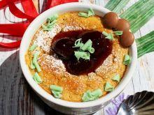 Zapiekany pudding z serka wiejskiego