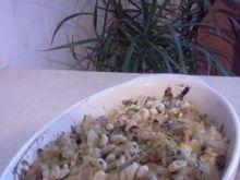 Zap.makaronowa z cebulą i sos. śmiet-ser