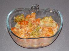Zasmażana marchewka z brokułem
