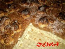 Zatopione ciasto z jabłkami
