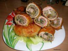 zawijane mięso z kaszą i grzybami