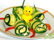 Zawijaski z cukinii i pasty jajecznej