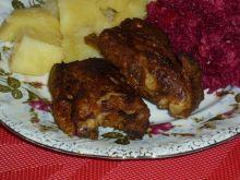 Żeberka w miodzie pieczone