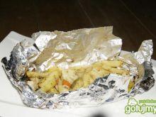 Ziamniaki z warzywami duszone na grillu