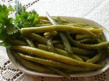 Zielona fasolka szparagowa na kwaśno :