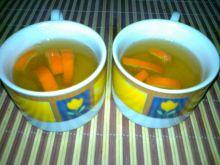 Zielona herbata z nalewką i pomarańczą