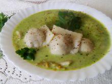 Zielona jarzynowa z pierożkami a'la ravioli