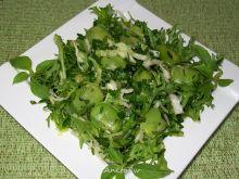 Zielona sałatka z bobem