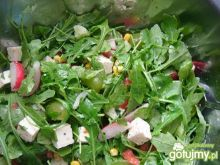Zielona sałatka z rukolą