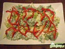 Zielona surówka z czerwonym akcentem