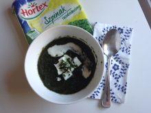 Zielona zupa krem z brokułem, porem i szpinakiem
