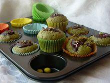 Zielone muffiny z czekoladą i nutą cytryny