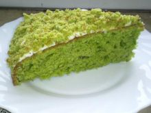 Zielone słodkie ciasto