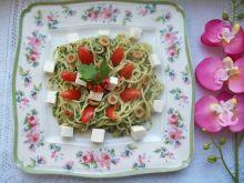 Zielone spaghetti