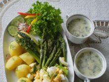 Zielone szparagi z jajkiem na twardo :